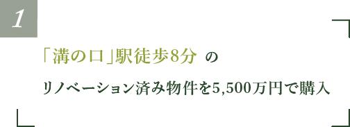 「溝の口」駅徒歩8分のリノベーション済み物件を5,500万円で購入